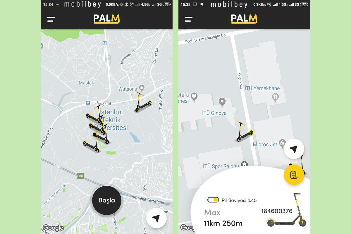 Palm Uygulama Ekran Görüntüsü